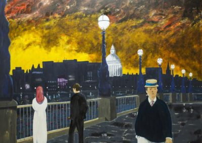 St Paul's Cathedral from the River Thames near Waterloo Bridge inspired the song 'Waterloo Sunset' by Ray Davies and the Kinks. The song also references Julie Christie and Terence Stamp. The painting references Edvard Munch and Edourd Manet.