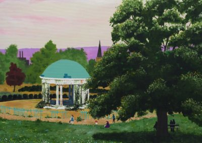 The bandstand in Clifton Park, Rotherham South Yorkshire, evoking memories of childhood